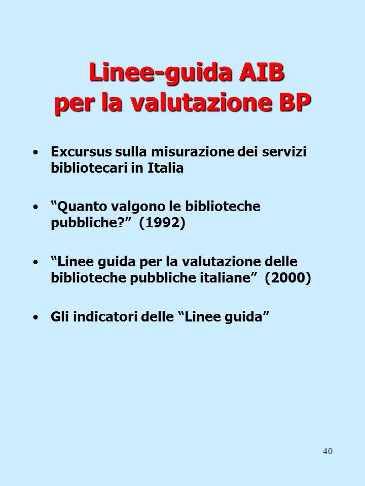 Linee-guida AIB per la valutazione BP