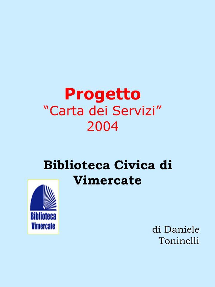 Progetto Carta dei Servizi 2004