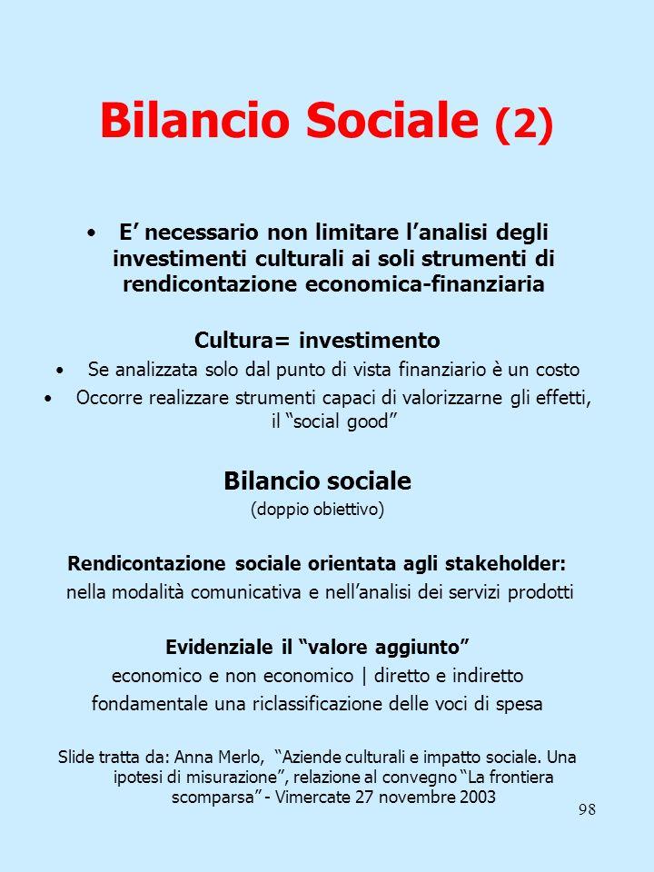 Bilancio Sociale (2) Bilancio sociale