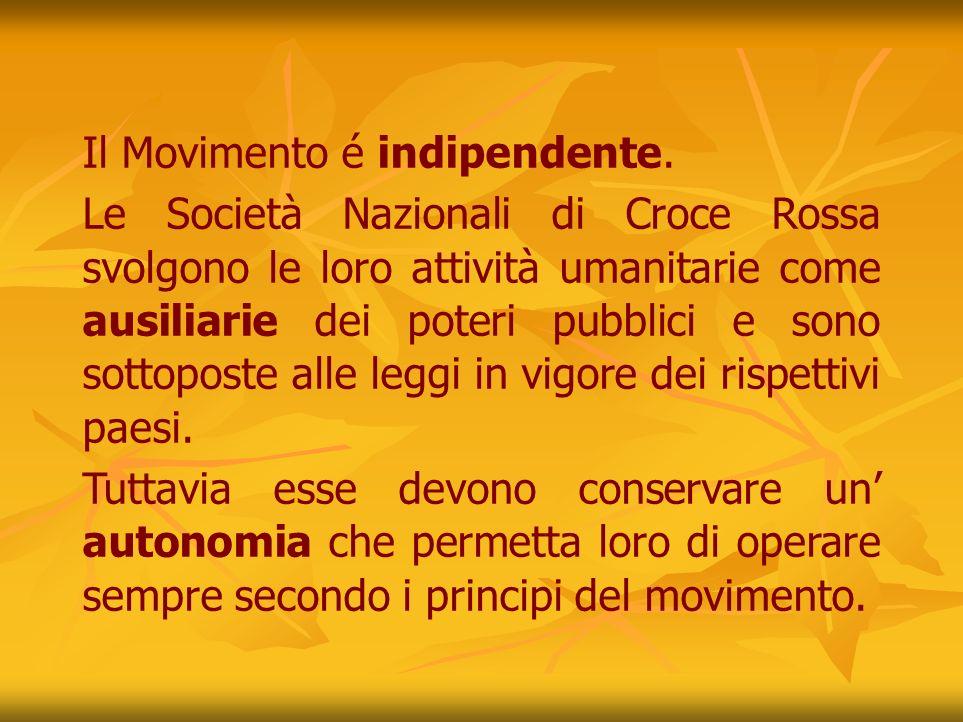 Il Movimento é indipendente.