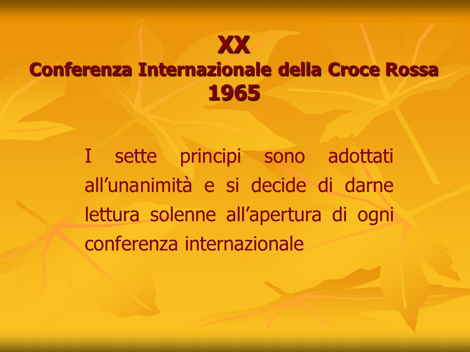 XX Conferenza Internazionale della Croce Rossa 1965