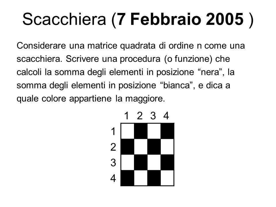 Scacchiera (7 Febbraio 2005 )