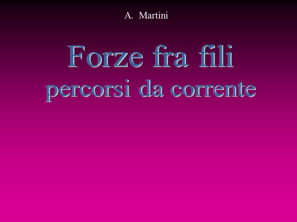 A. Martini Forze fra fili percorsi da corrente