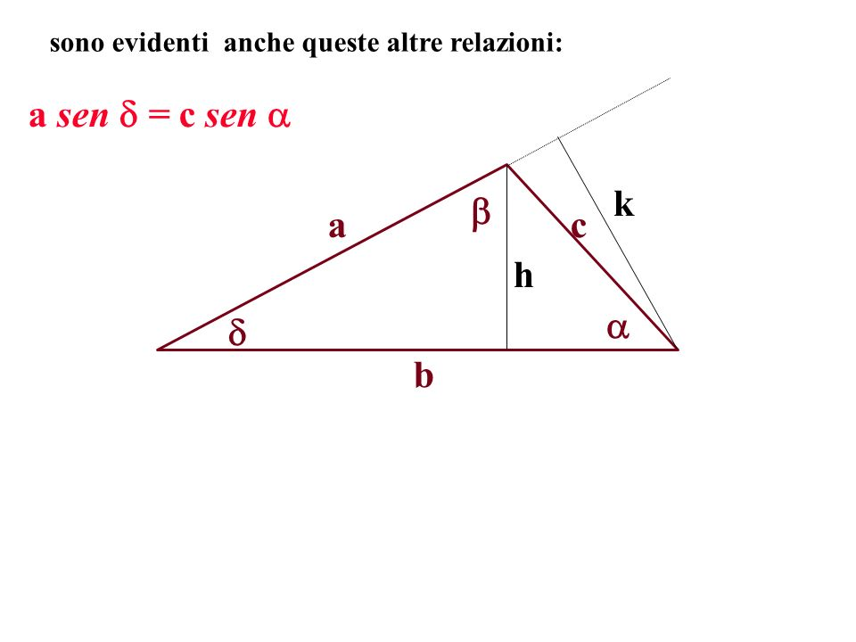 a sen = c sen  k  a c h   b