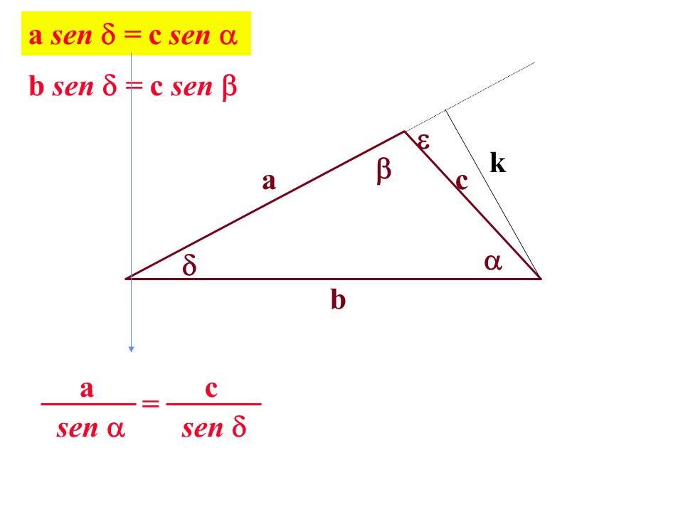 a sen = c sen  b sen = c sen   k  a c   b sen  c = sen  a
