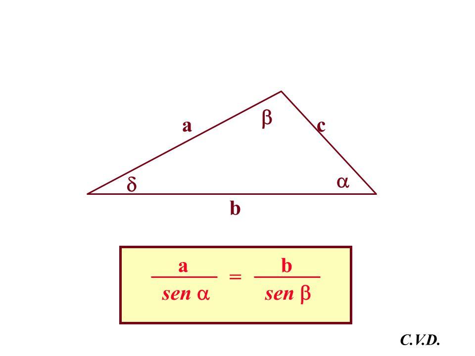  a c   b sen  a sen  b = C.V.D.