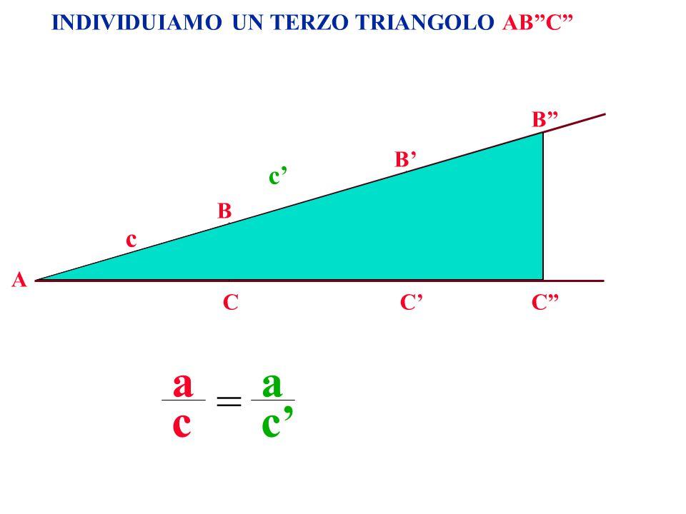 a a = c c' c' a' c a INDIVIDUIAMO UN TERZO TRIANGOLO AB C B B' B  A