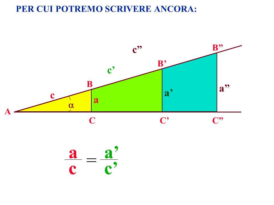 a a' = c c' c c' a a' c a PER CUI POTREMO SCRIVERE ANCORA: B B' B 
