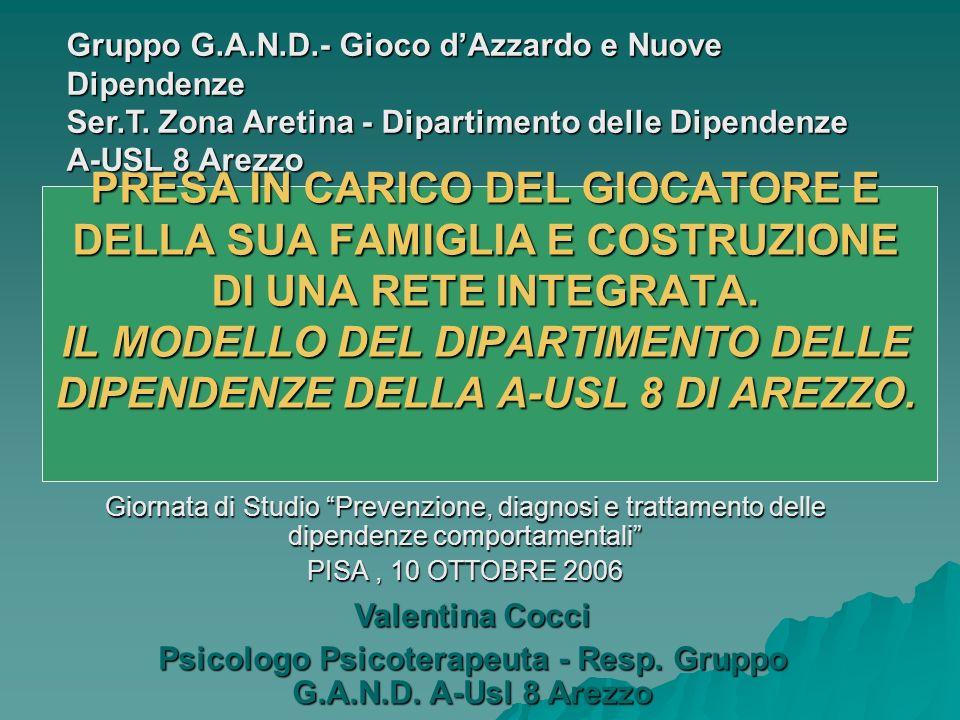 Psicologo Psicoterapeuta - Resp. Gruppo G.A.N.D. A-Usl 8 Arezzo
