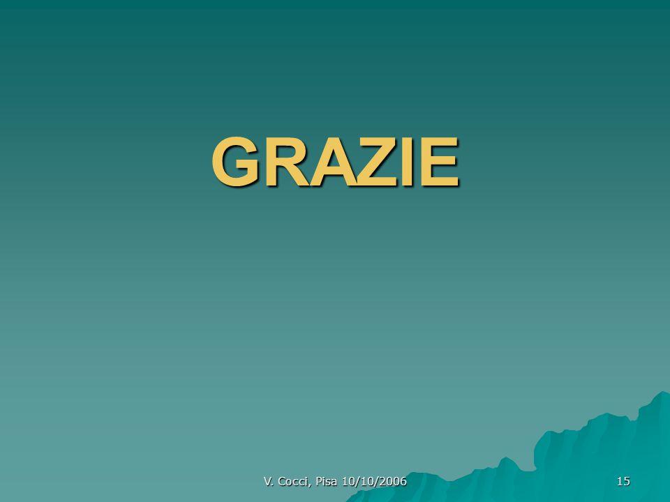 GRAZIE V. Cocci, Pisa 10/10/2006