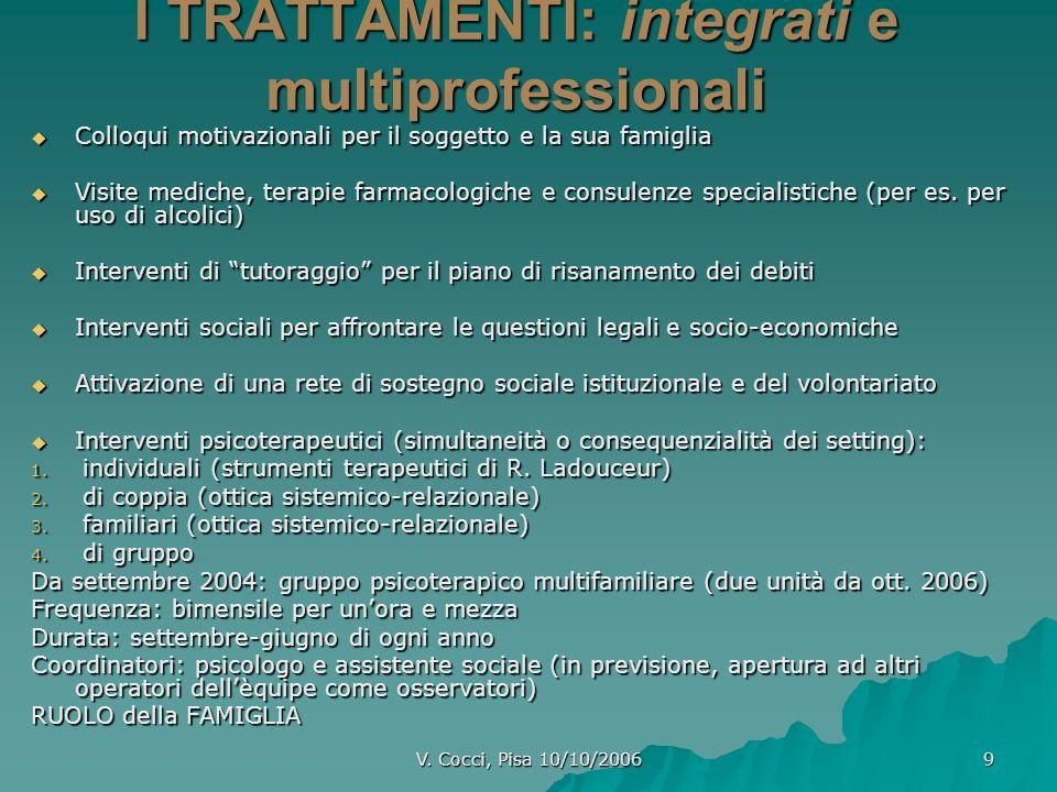 I TRATTAMENTI: integrati e multiprofessionali