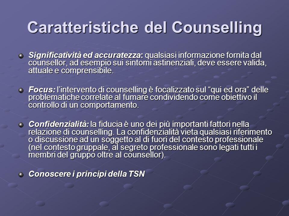 Caratteristiche del Counselling