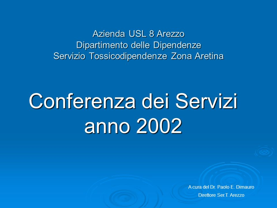 Conferenza dei Servizi anno 2002