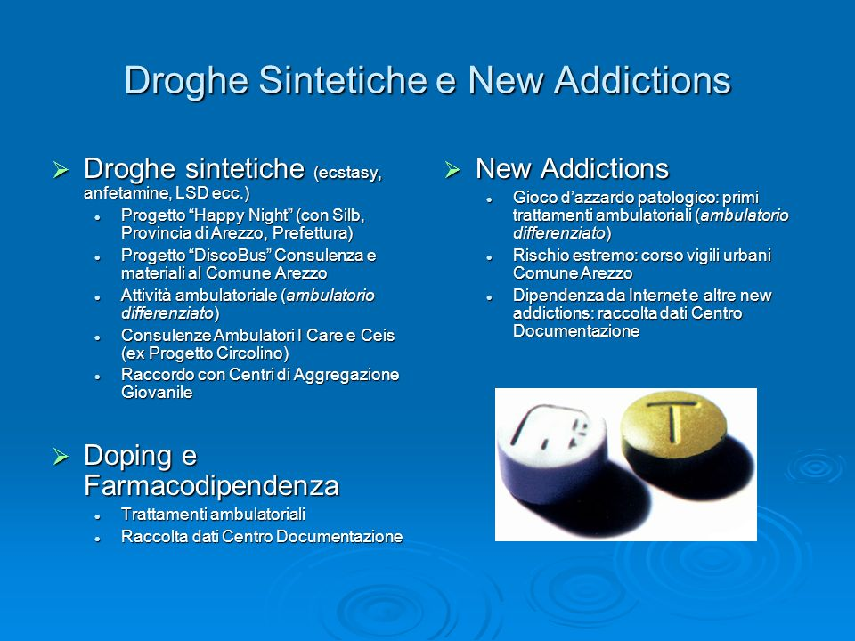 Droghe Sintetiche e New Addictions