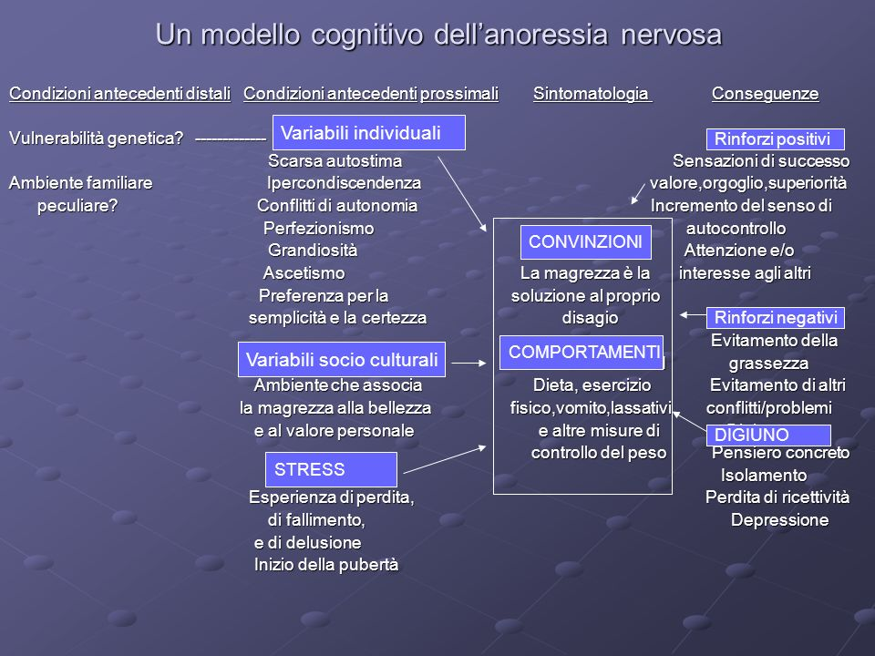 Un modello cognitivo dell'anoressia nervosa