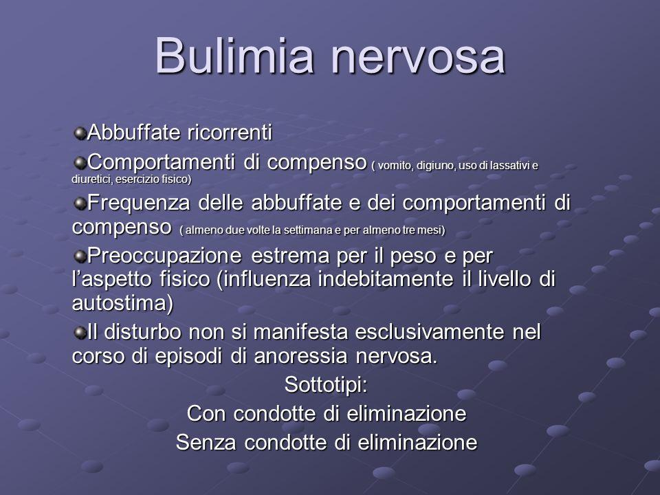 Bulimia nervosa Abbuffate ricorrenti