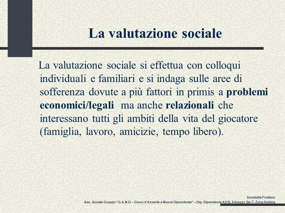 La valutazione sociale