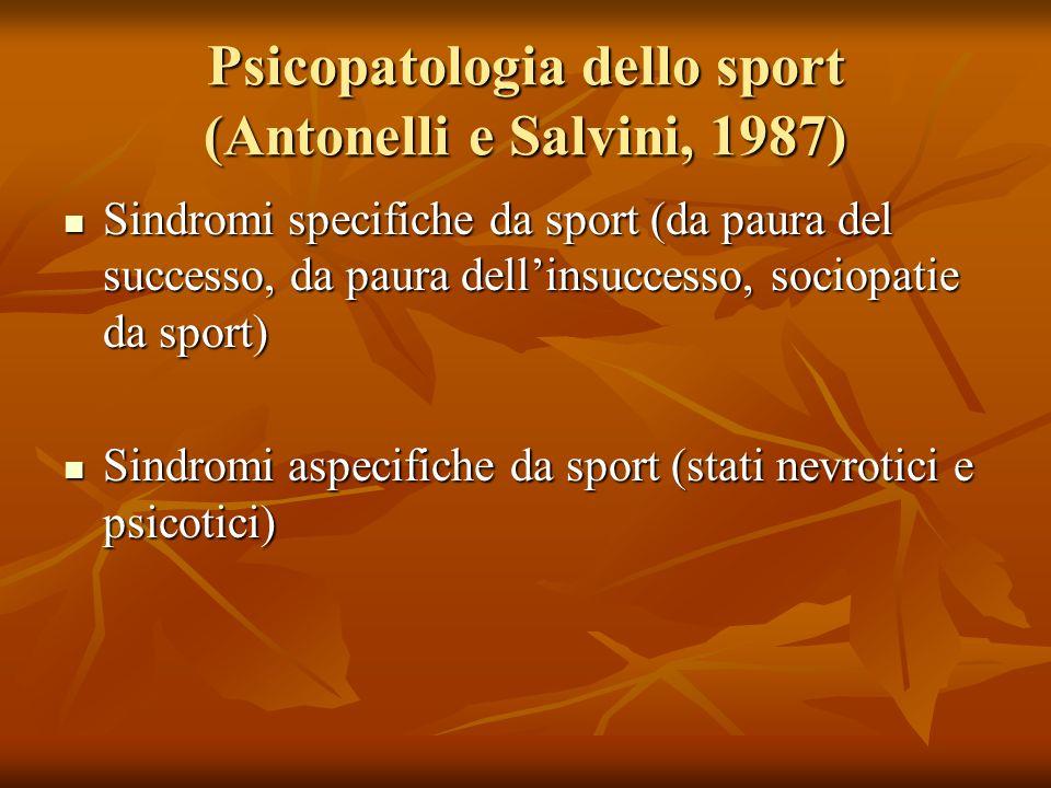 Psicopatologia dello sport (Antonelli e Salvini, 1987)