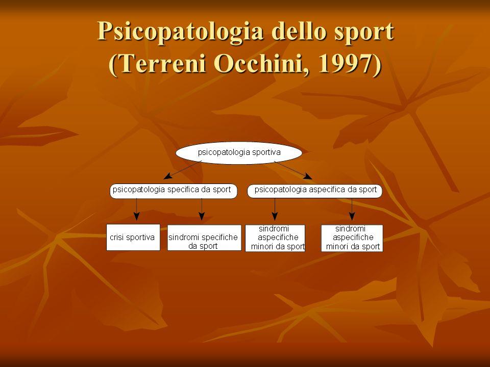 Psicopatologia dello sport (Terreni Occhini, 1997)