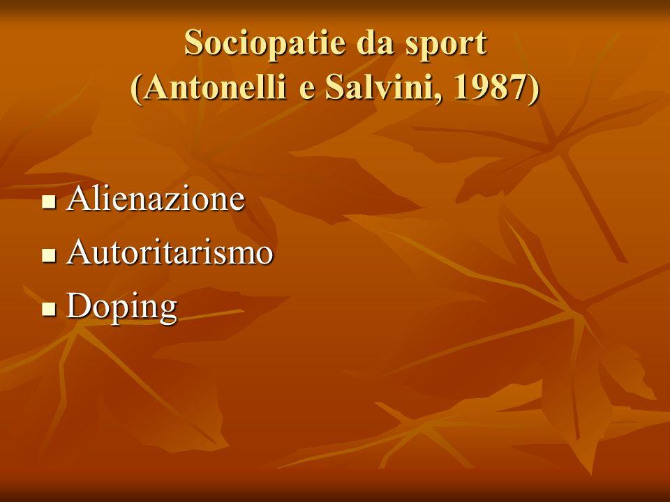 Sociopatie da sport (Antonelli e Salvini, 1987)