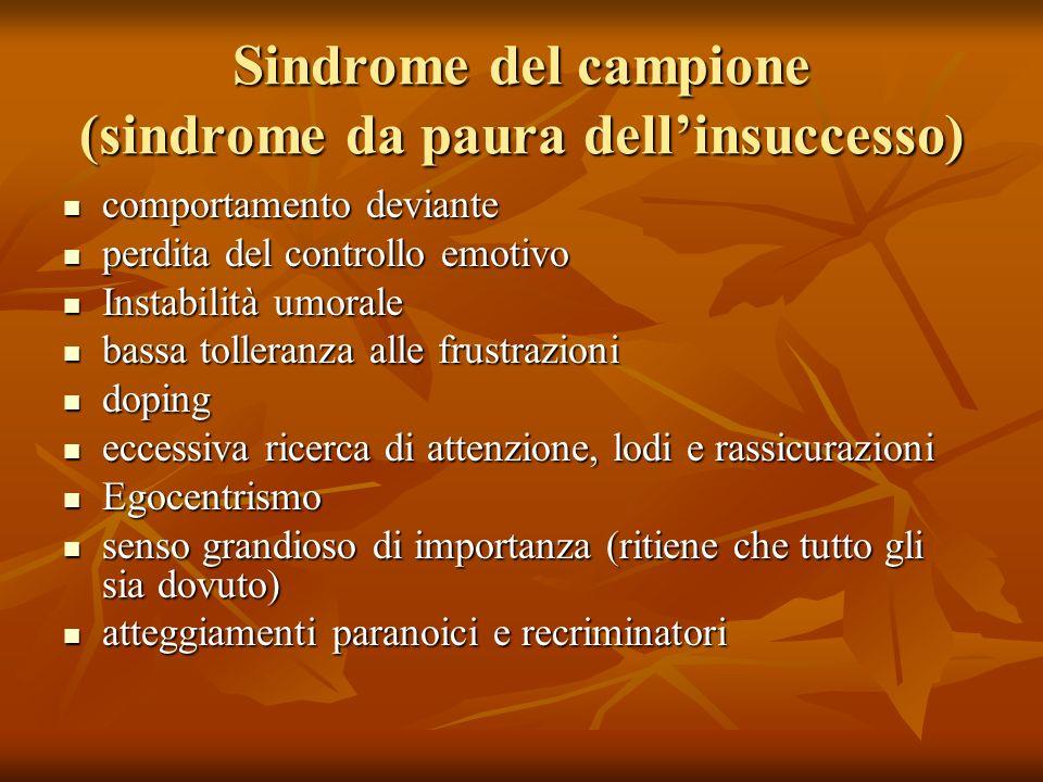 Sindrome del campione (sindrome da paura dell'insuccesso)
