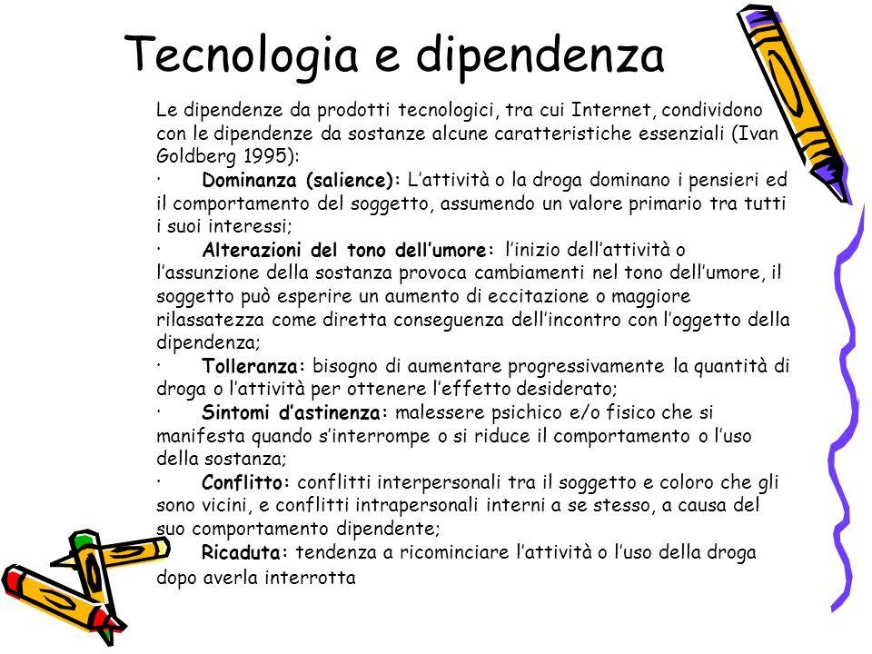 Tecnologia e dipendenza