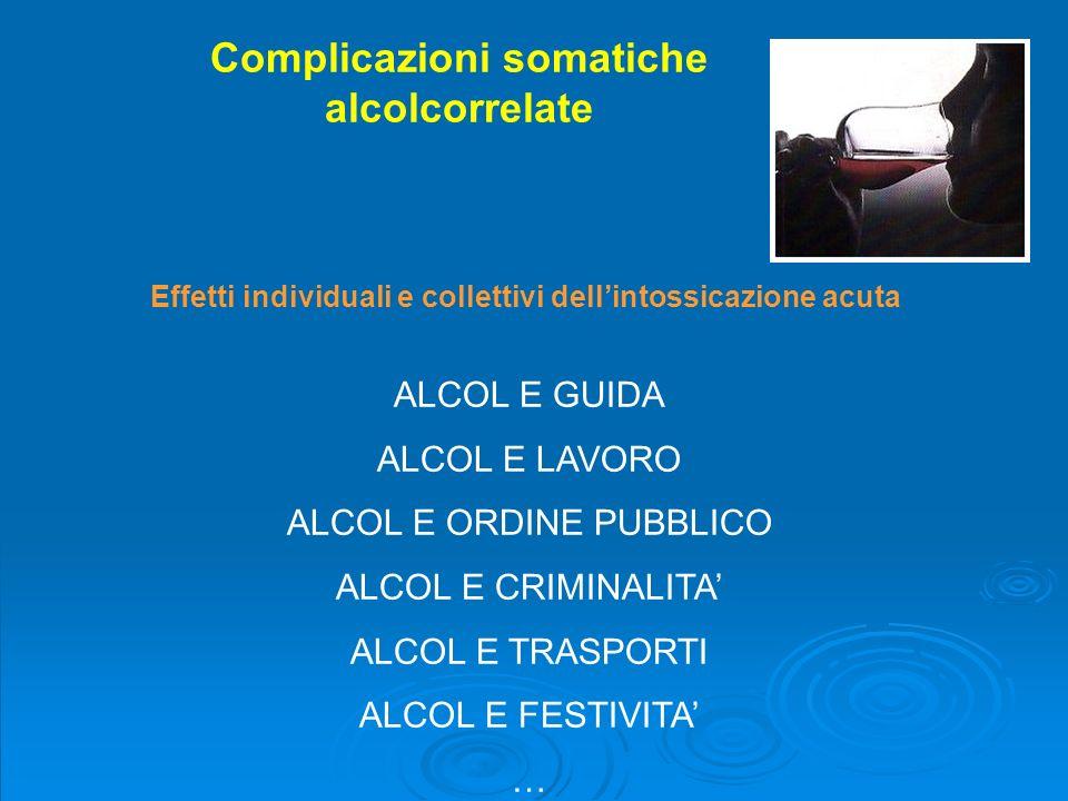 Complicazioni somatiche alcolcorrelate