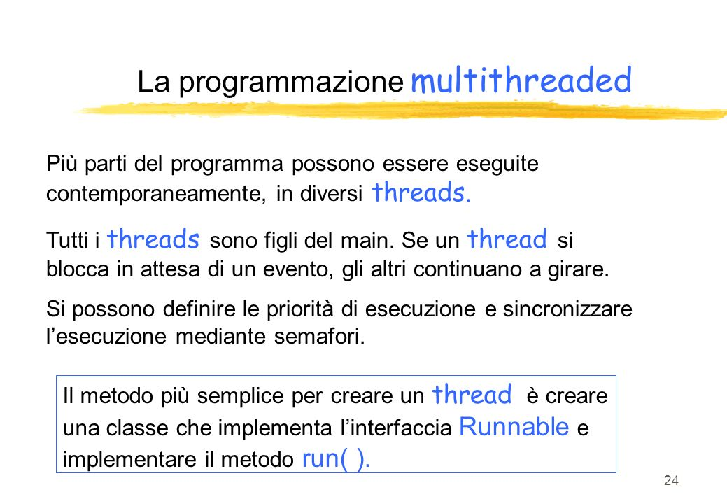 La programmazione multithreaded