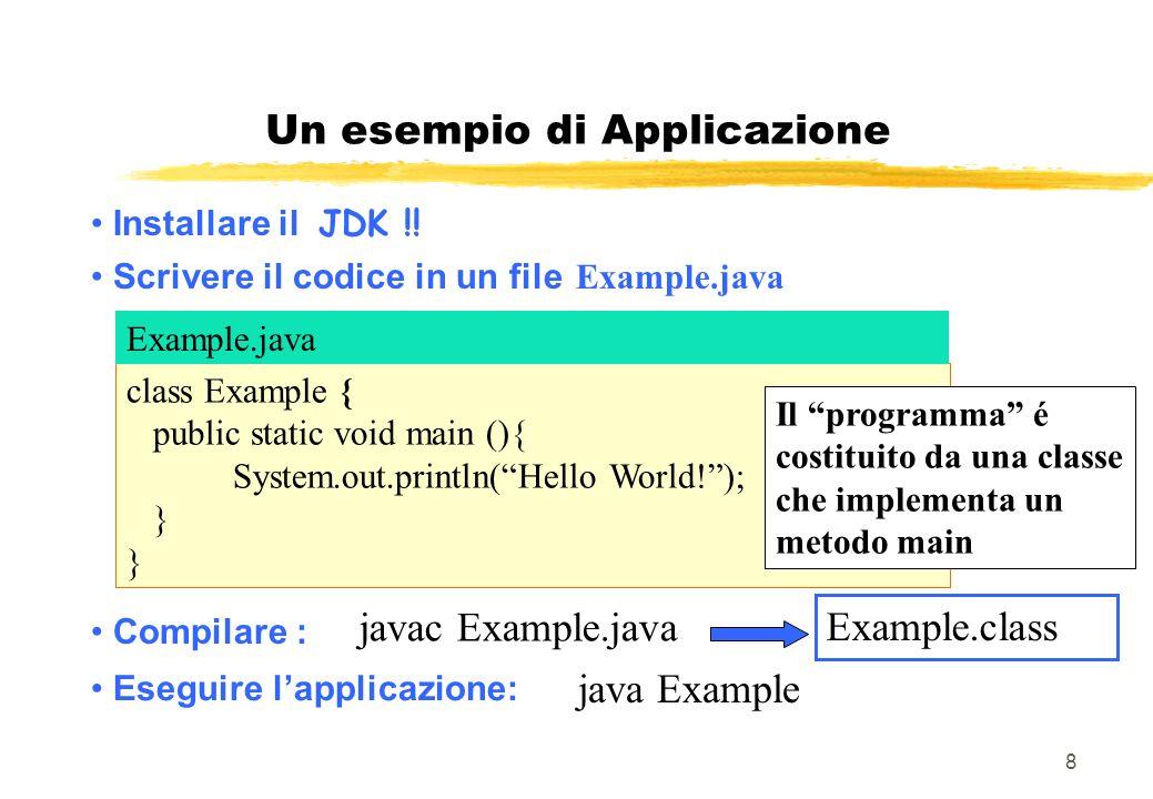 Un esempio di Applicazione