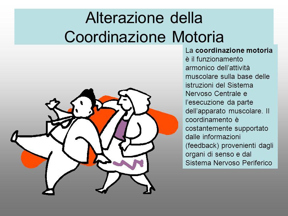 Alterazione della Coordinazione Motoria