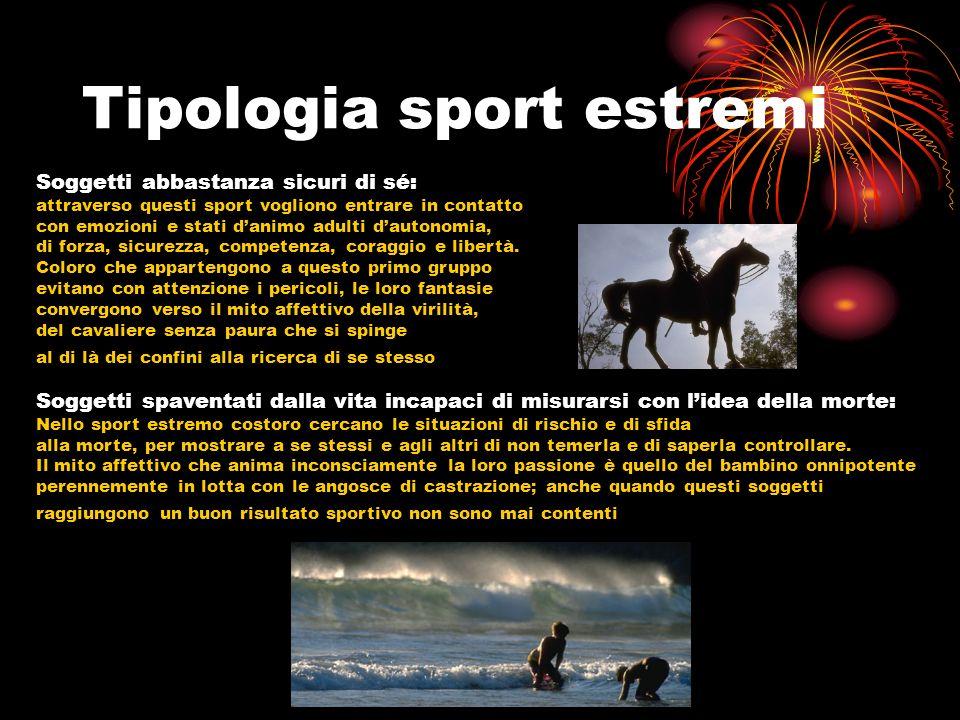 Tipologia sport estremi