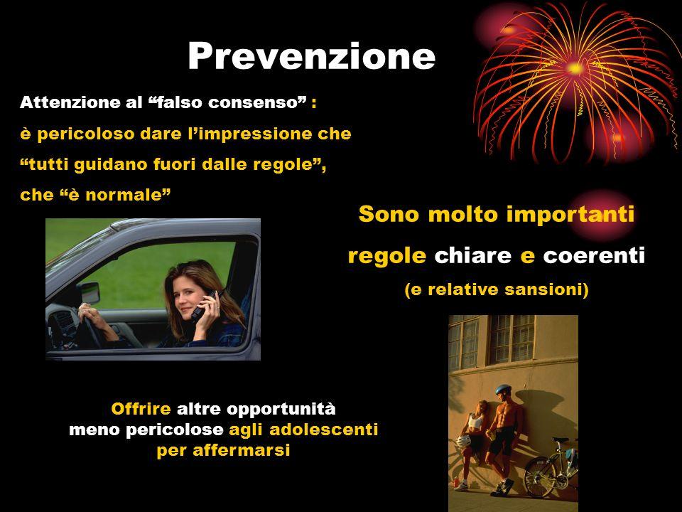 Prevenzione Sono molto importanti regole chiare e coerenti