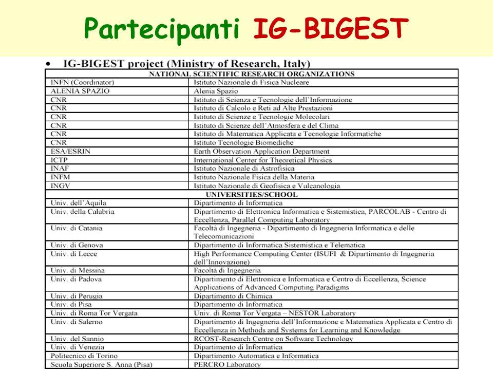 Partecipanti IG-BIGEST