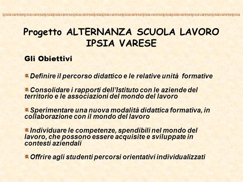 Progetto ALTERNANZA SCUOLA LAVORO IPSIA VARESE