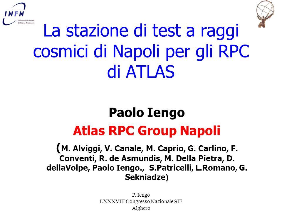 La stazione di test a raggi cosmici di Napoli per gli RPC di ATLAS