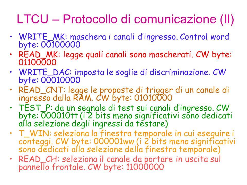 LTCU – Protocollo di comunicazione (II)