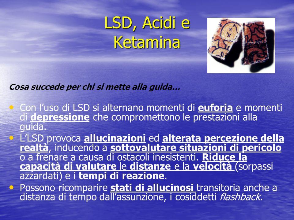 LSD, Acidi e KetaminaCosa succede per chi si mette alla guida…