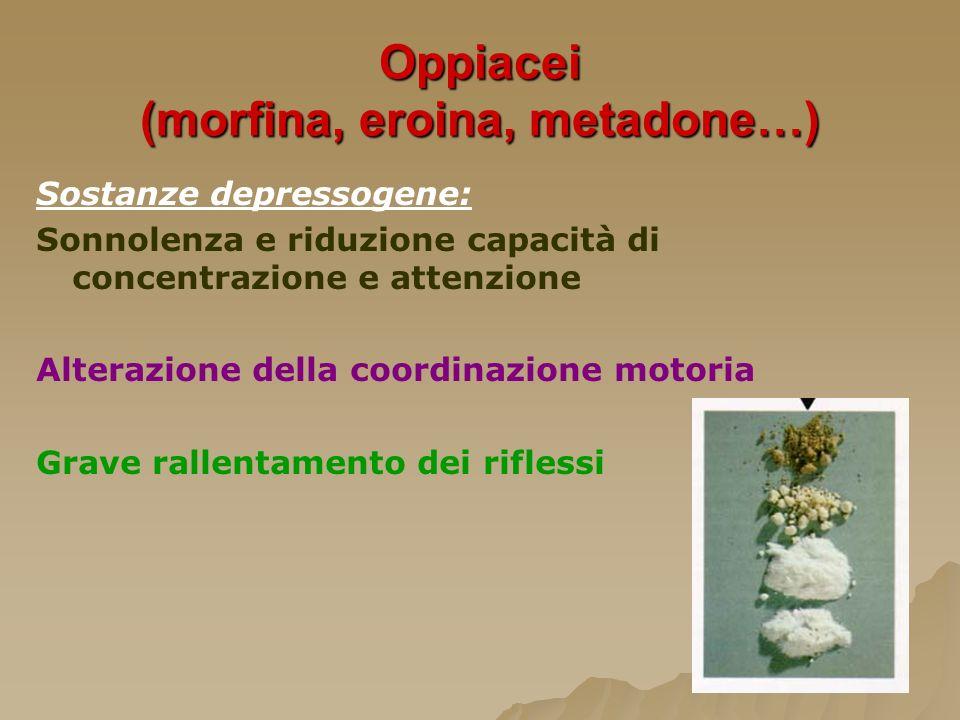 Oppiacei (morfina, eroina, metadone…)