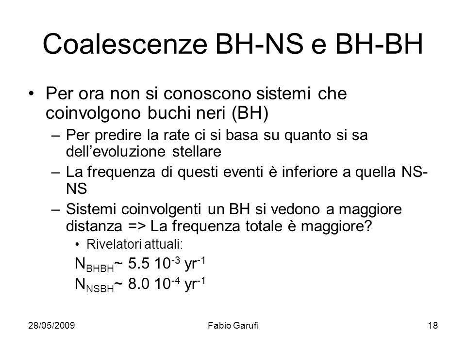 Coalescenze BH-NS e BH-BH