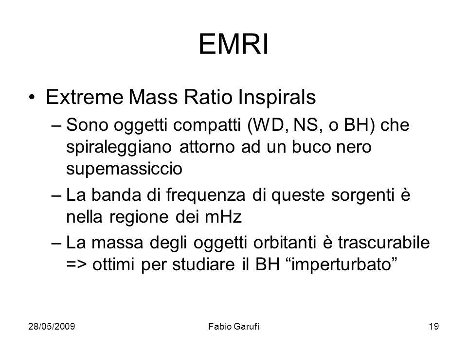 EMRI Extreme Mass Ratio Inspirals