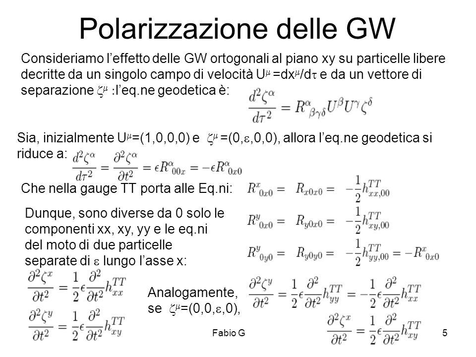 Polarizzazione delle GW