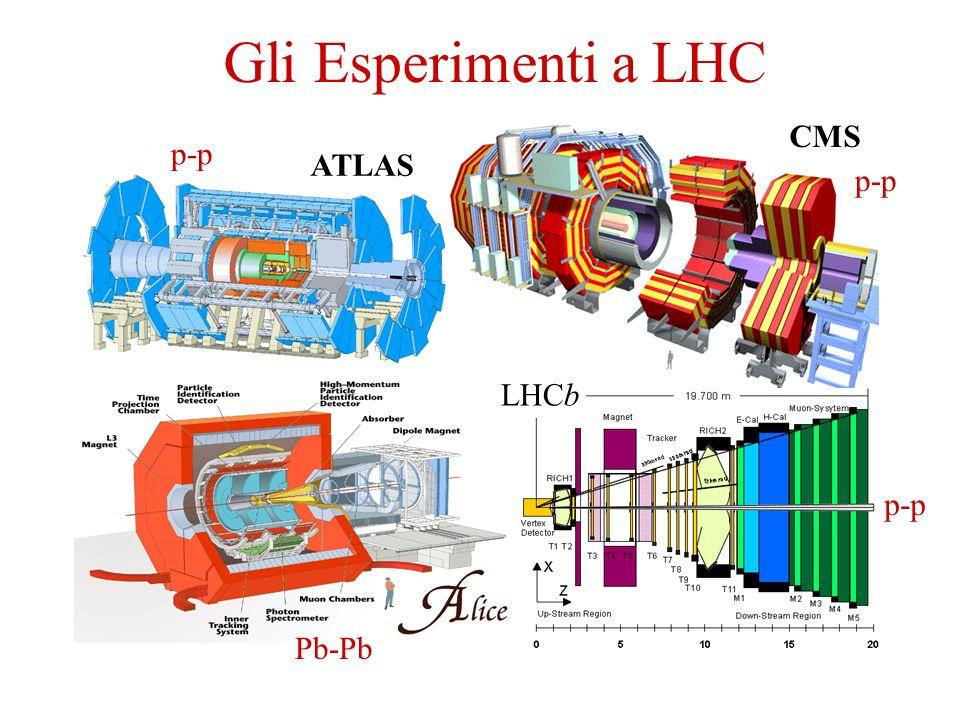 Gli Esperimenti a LHC CMS ATLAS LHCb p-p p-p p-p Pb-Pb