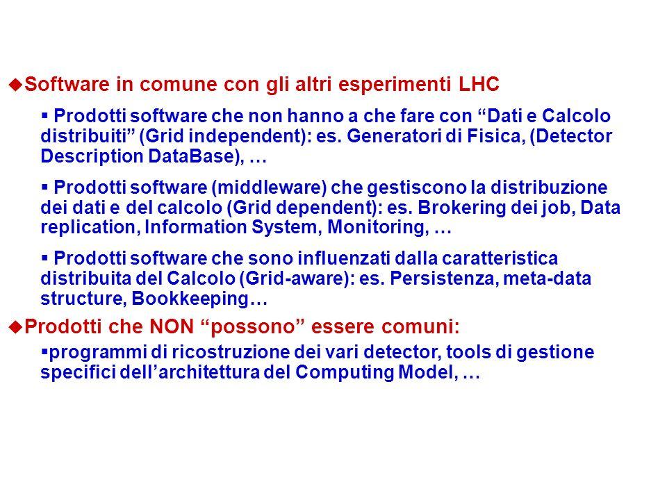Software in comune con gli altri esperimenti LHC