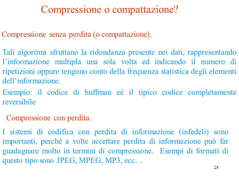 Compressione o compattazione