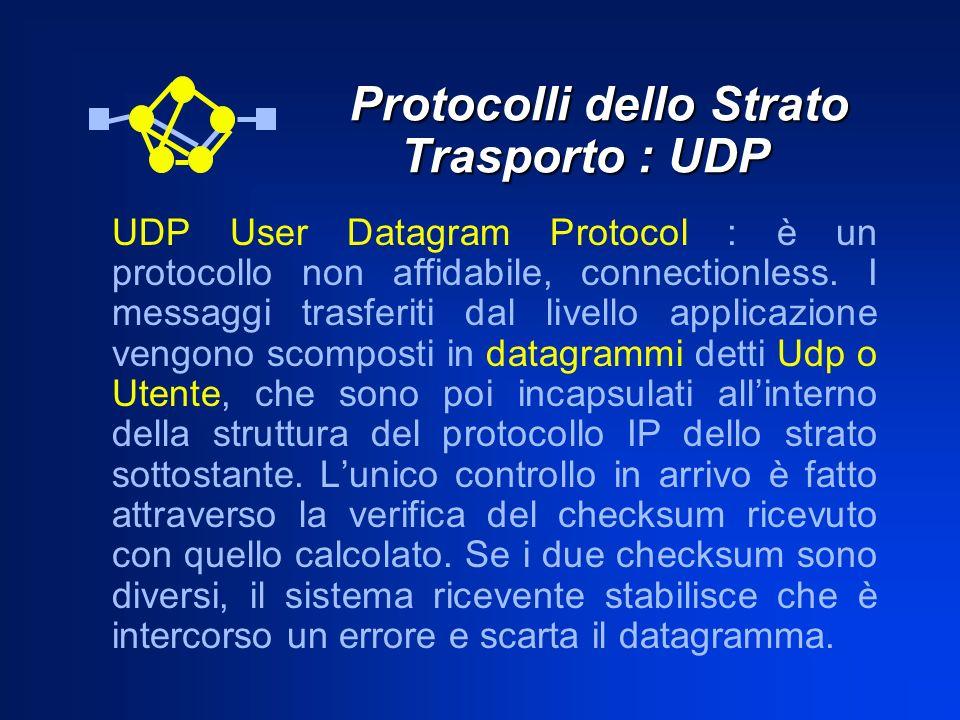 Protocolli dello Strato Trasporto : UDP