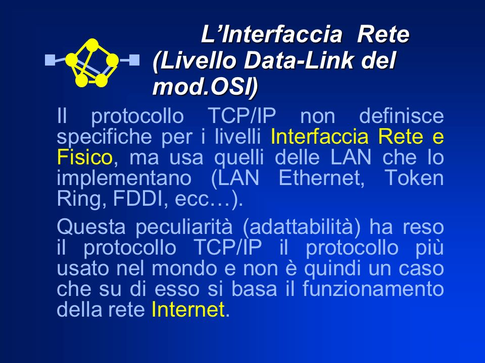 L'Interfaccia Rete (Livello Data-Link del mod.OSI)
