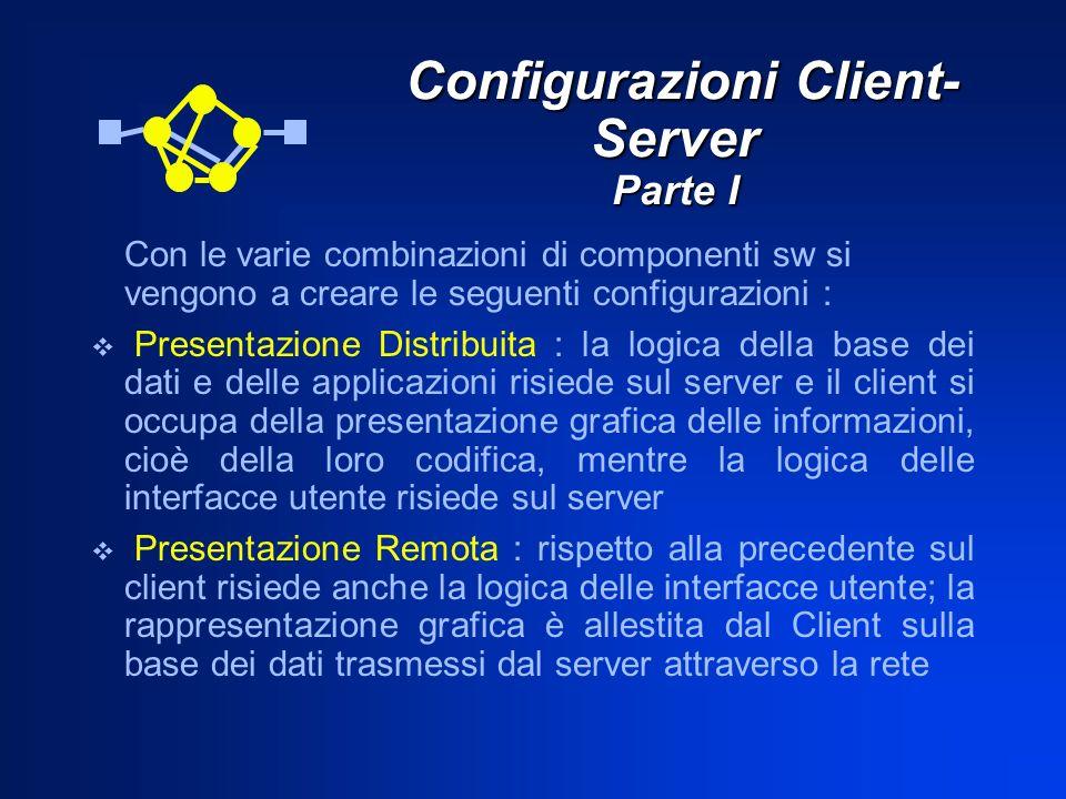 Configurazioni Client-Server Parte I