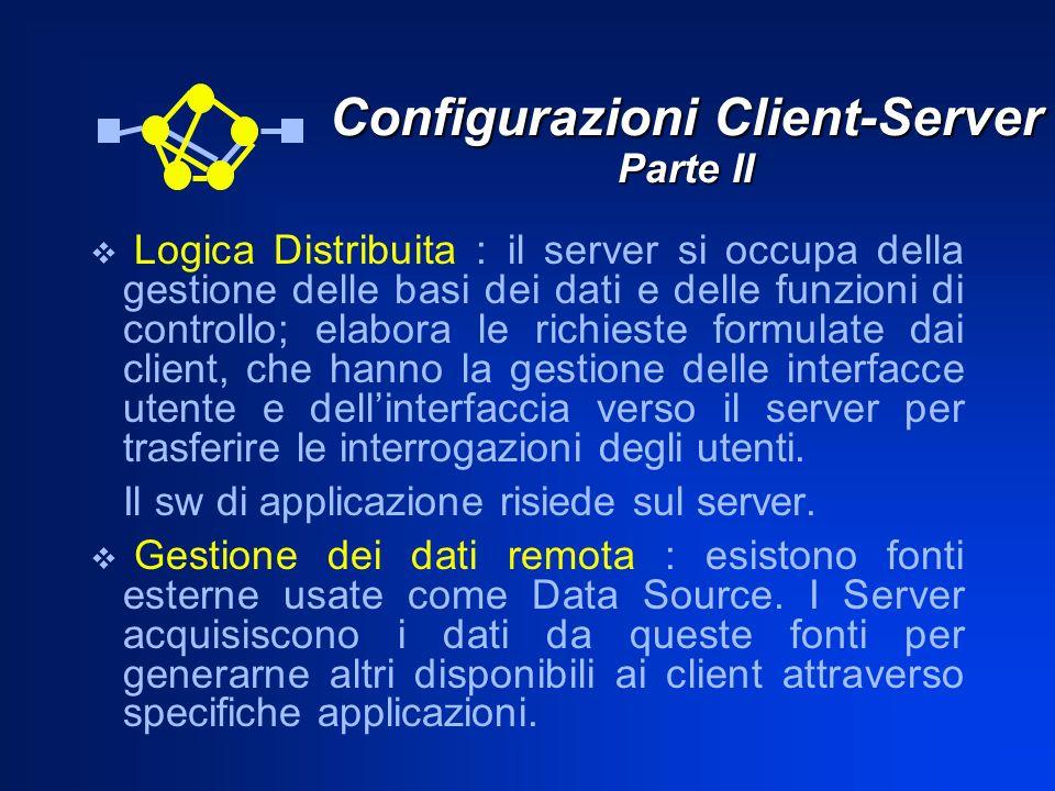 Configurazioni Client-Server Parte II