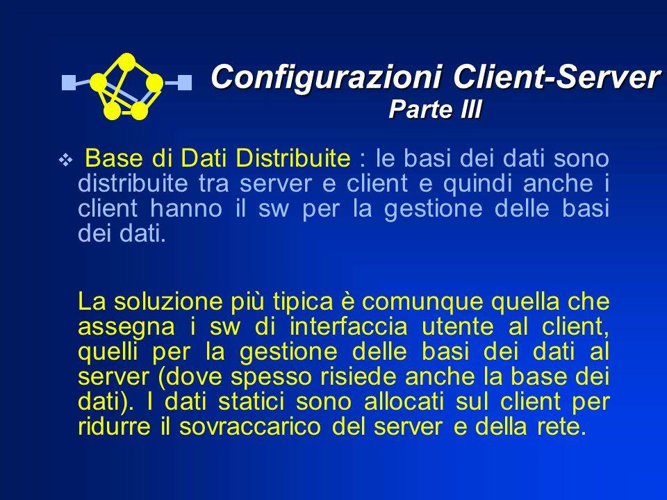 Configurazioni Client-Server Parte III