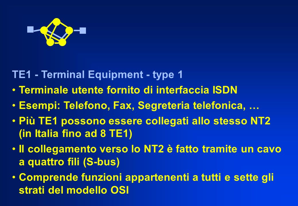 TE1 - Terminal Equipment - type 1